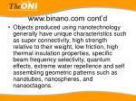 www binano com cont d
