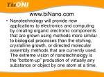 www binano com