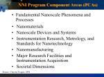 nni program component areas pcas