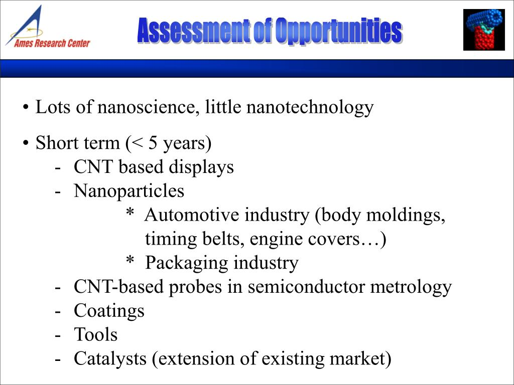 Assessment of Opportunities