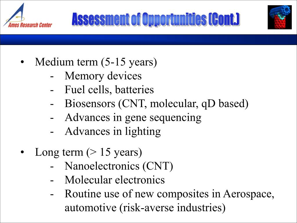 Assessment of Opportunities (Cont.)