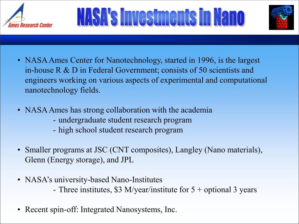 NASA's Investments in Nano