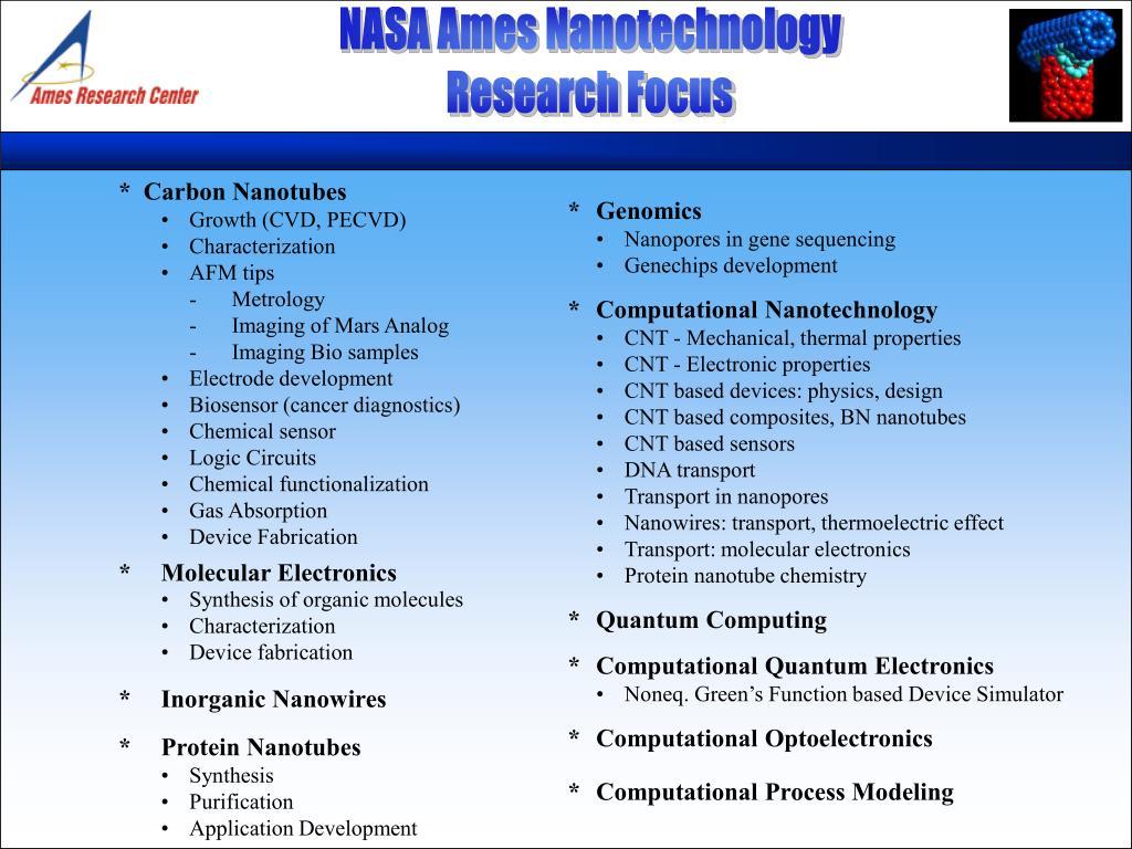 NASA Ames Nanotechnology