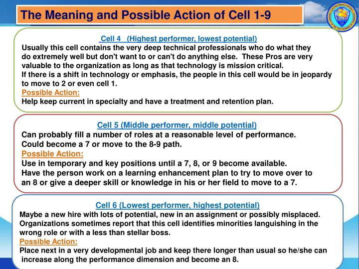 The Meaning and Possible Action of Cell 1-9