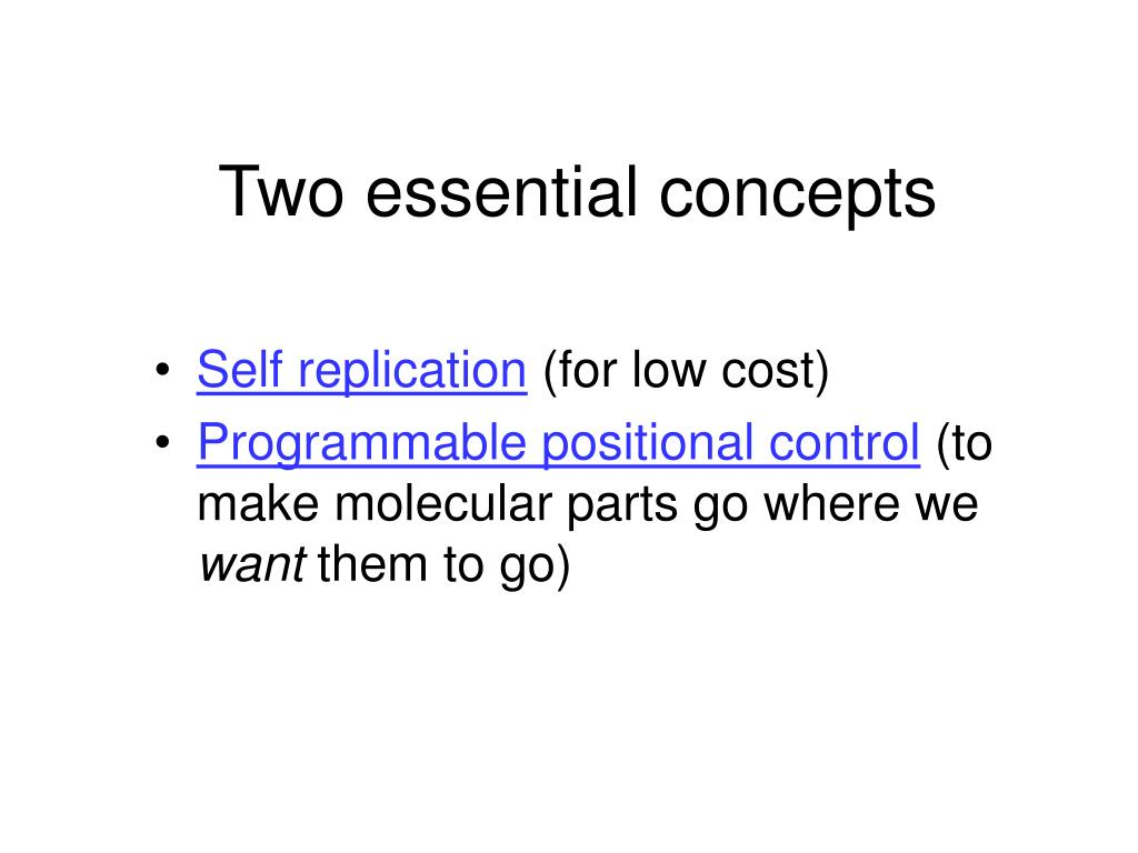 Two essential concepts