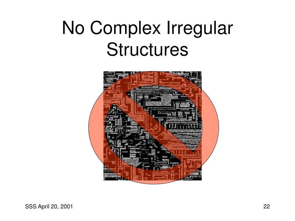 No Complex Irregular Structures