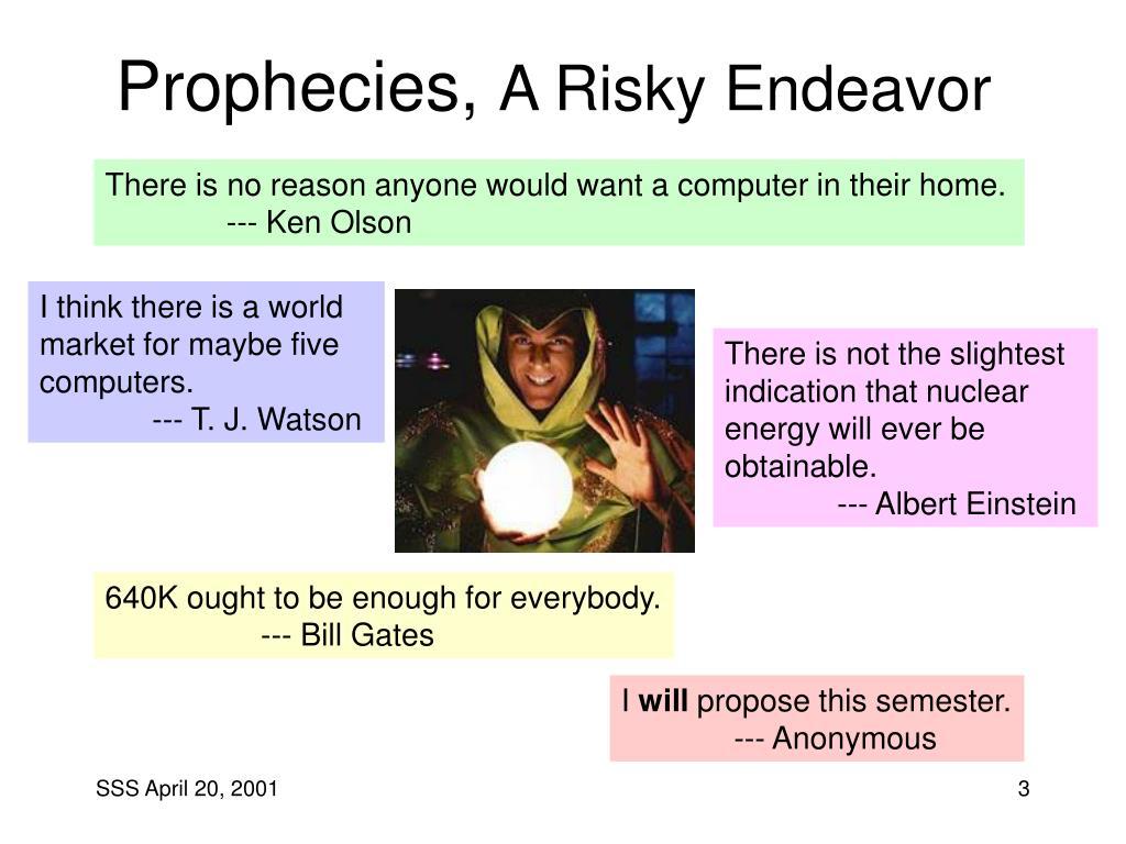 Prophecies,