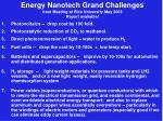 energy nanotech grand challenges from meeting at rice university may 2003 report available