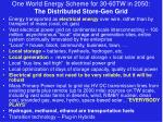 one world energy scheme for 30 60tw in 2050 the distributed store gen grid
