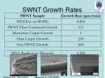 swnt growth rates