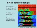 swnt tensile strength
