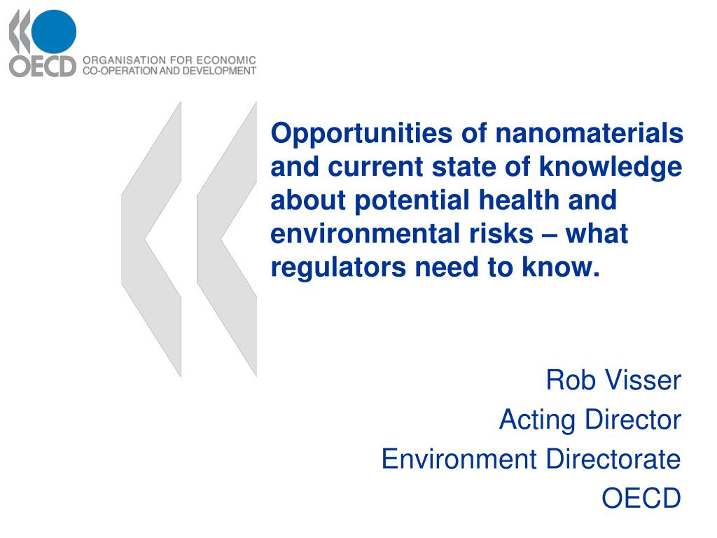 rob visser acting director environment directorate oecd l.