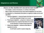 adaptations and biomes