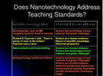 does nanotechnology address teaching standards8