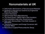 nanomaterials at uk