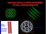 nanomaterials with different atomic arrangements