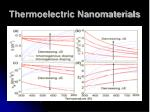 thermoelectric nanomaterials50