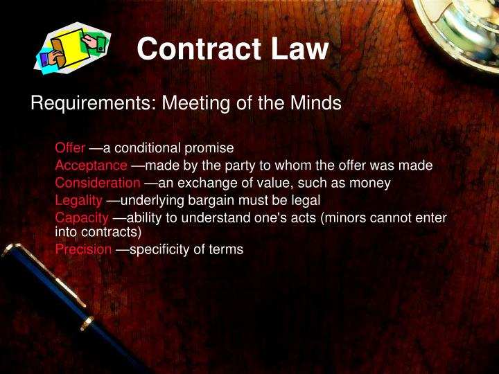 contract law terms Contract definition: a contract is a legal agreement, usually between two companies or between an employer and | meaning, pronunciation, translations and examples.