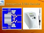 homogenizer ultra sonicator