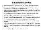 batsman s shots