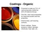 coatings organic