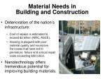 material needs in building and construction