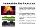 nanoadditive fire retardants