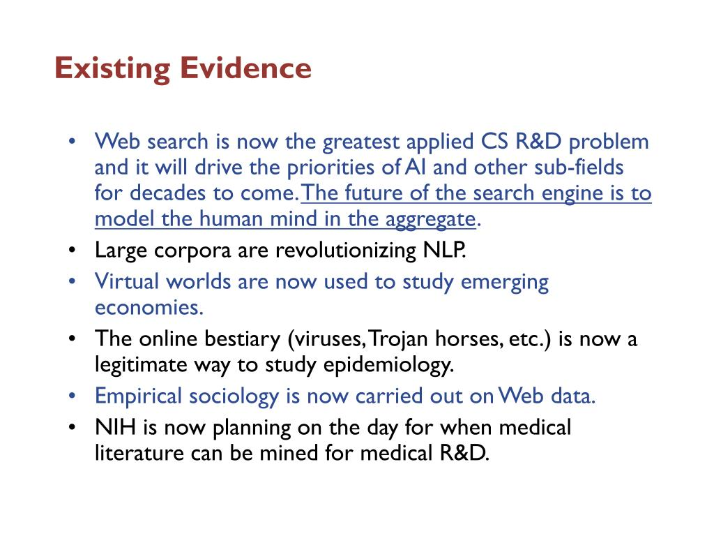 Existing Evidence