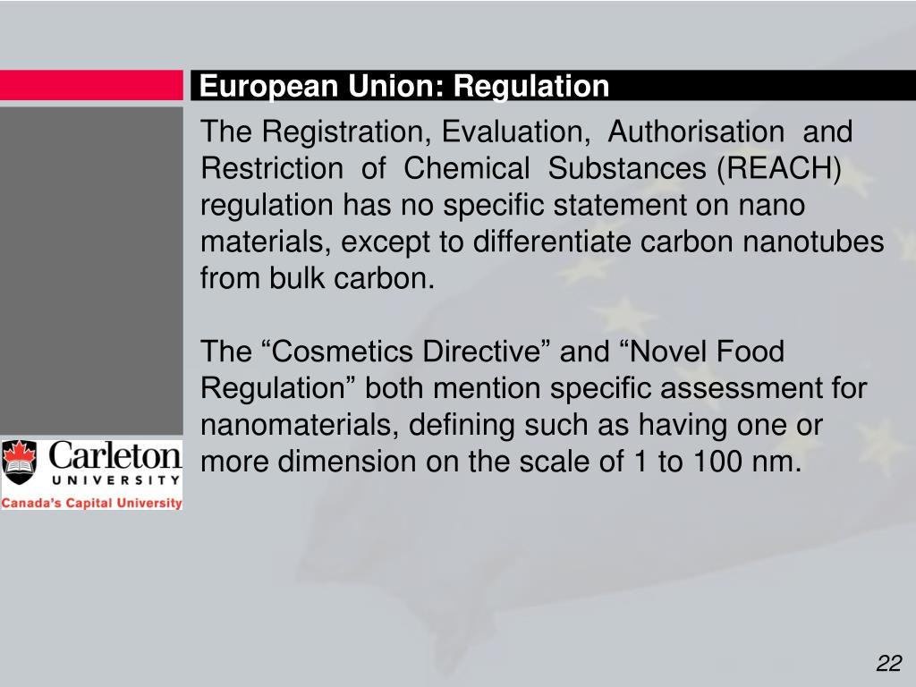 European Union: Regulation