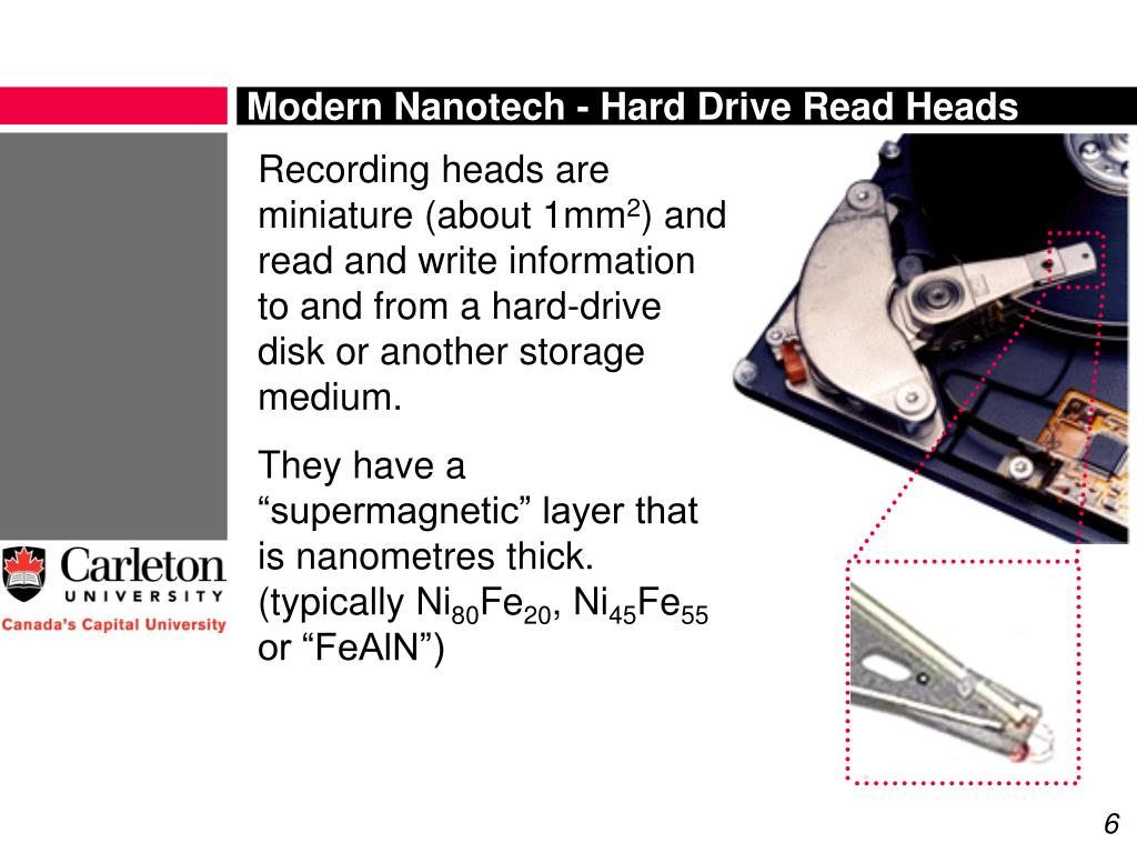 Modern Nanotech - Hard Drive Read Heads