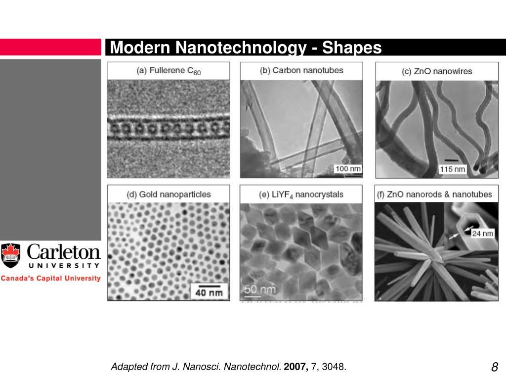 Modern Nanotechnology - Shapes