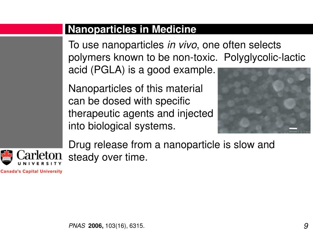 Nanoparticles in Medicine