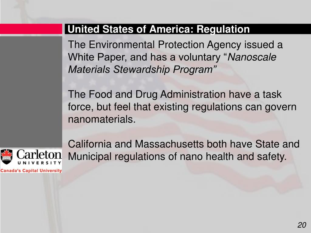 United States of America: Regulation