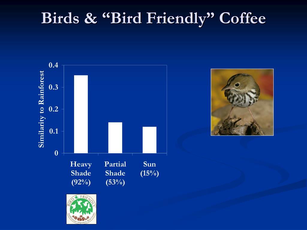 "Birds & ""Bird Friendly"" Coffee"