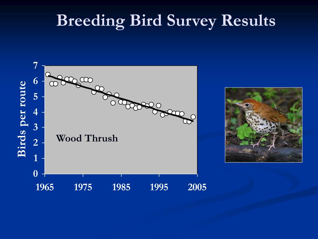 Breeding Bird Survey Results