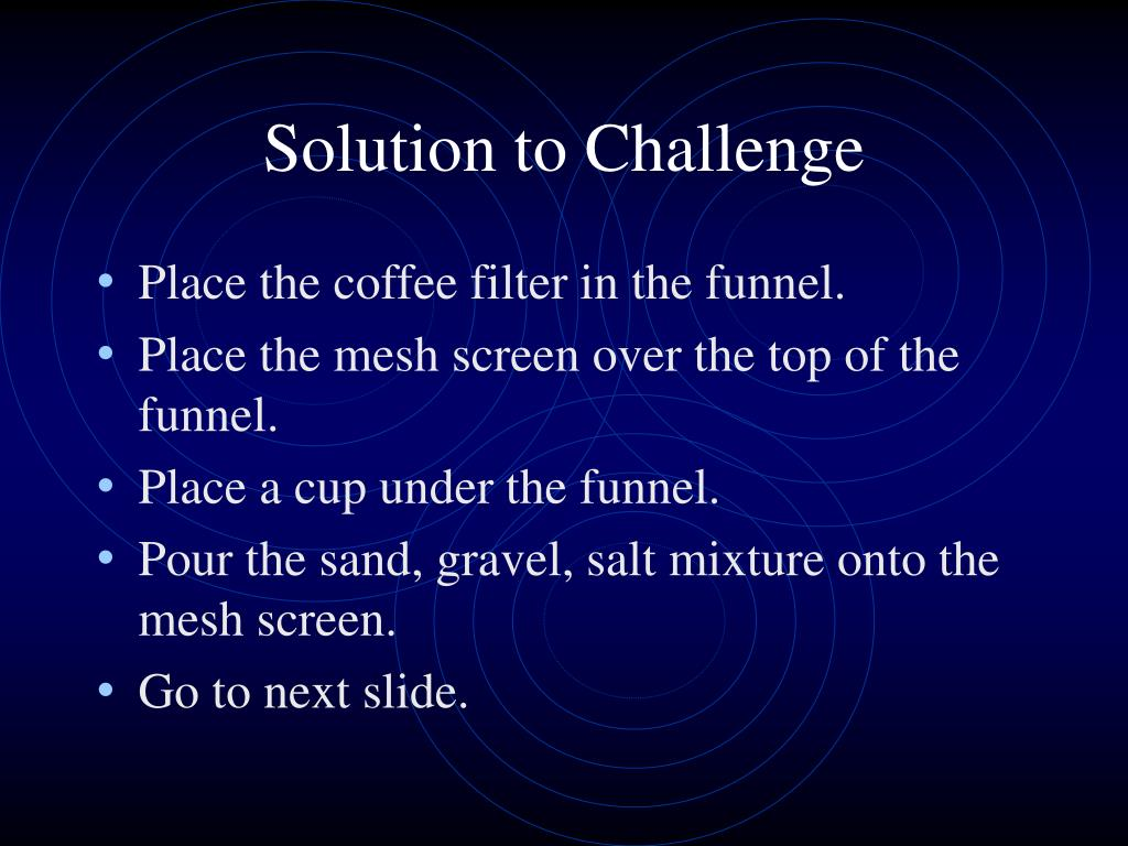 Solution to Challenge