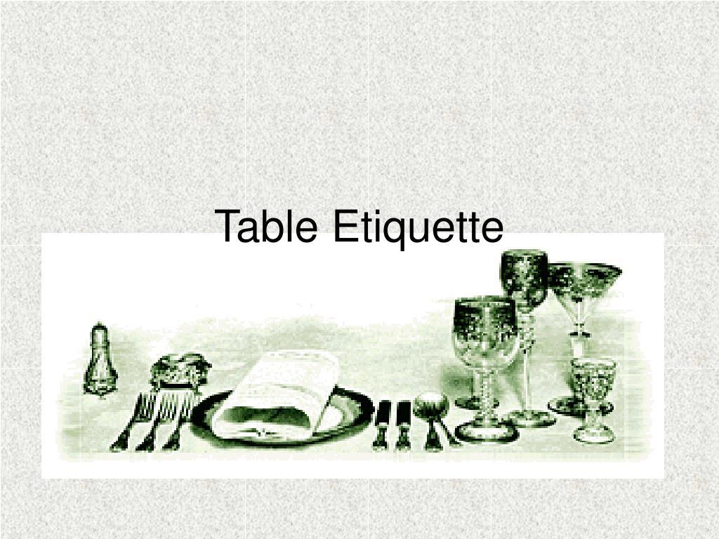table etiquette l.