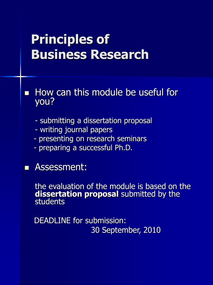 Principles of business research1
