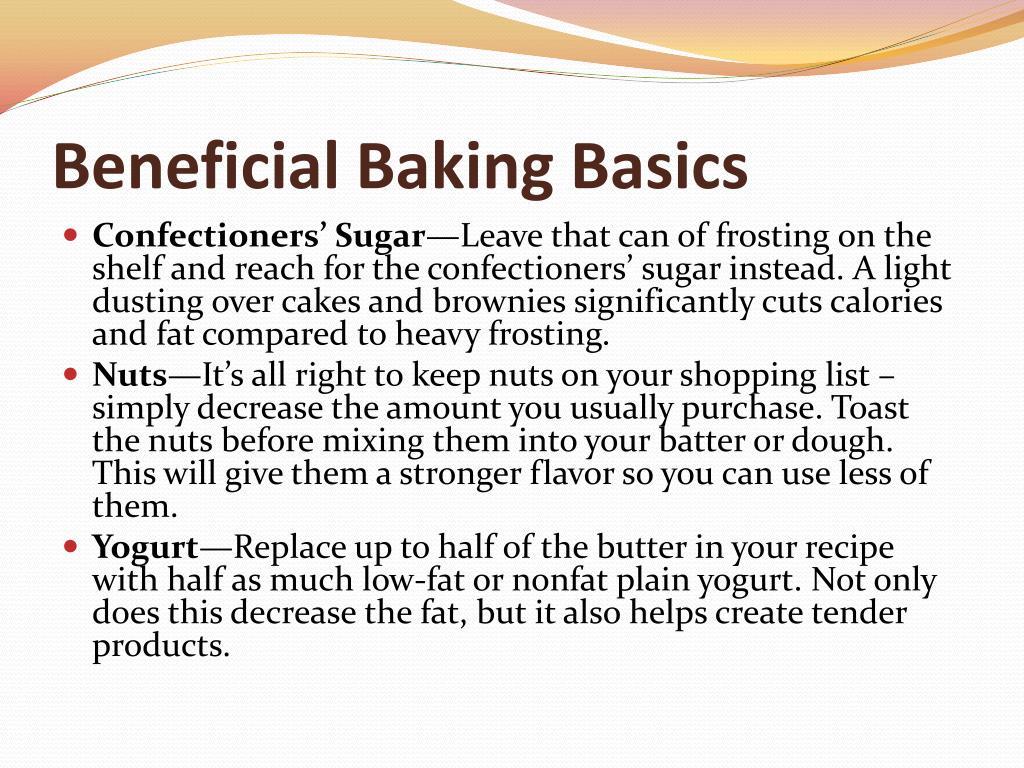 Beneficial Baking Basics
