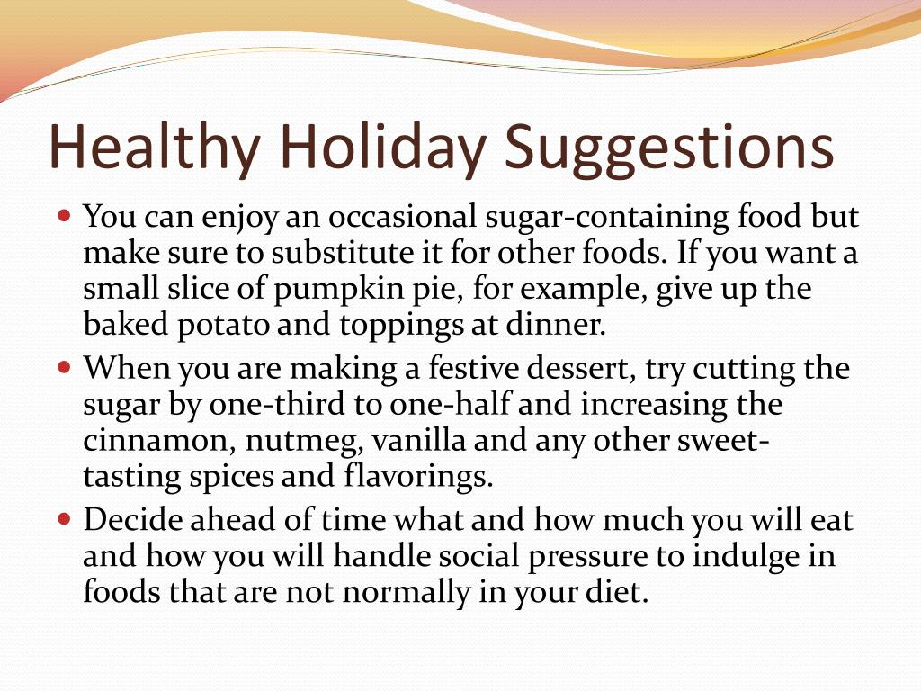 Healthy Holiday Suggestions