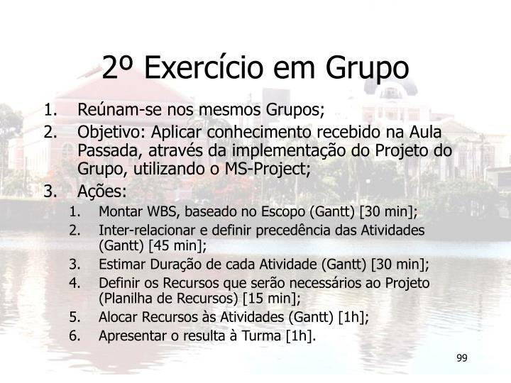 2º Exercício em Grupo