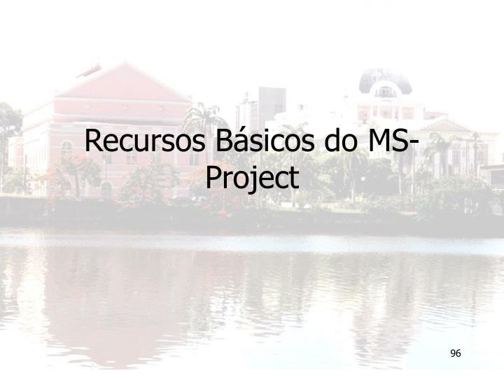 Recursos Básicos do MS-Project