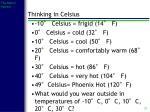 thinking in celsius