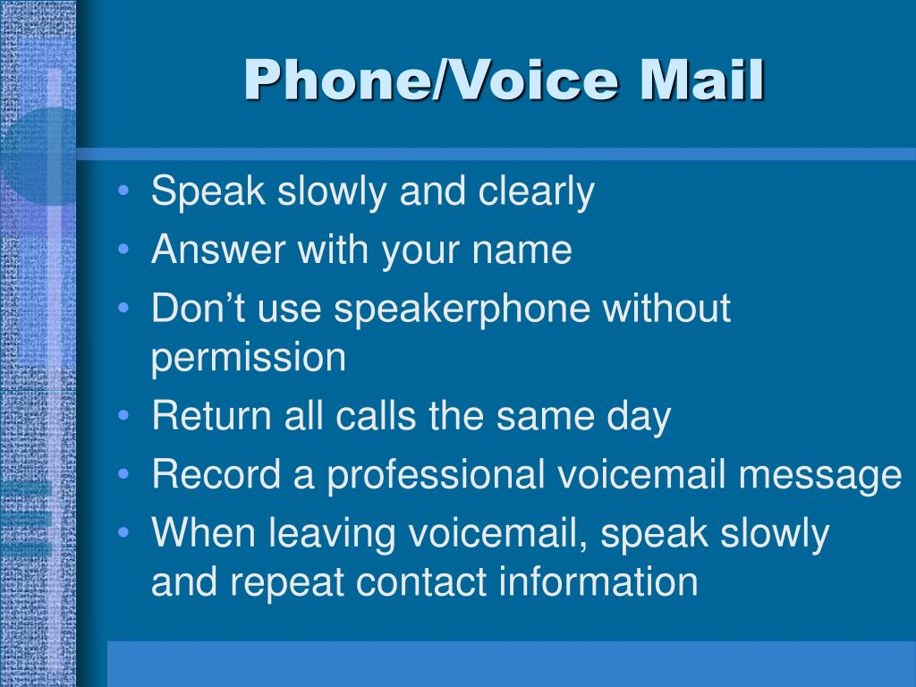 Phone/Voice Mail
