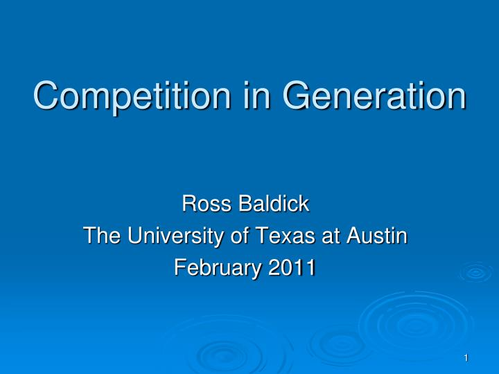 competition in generation n.