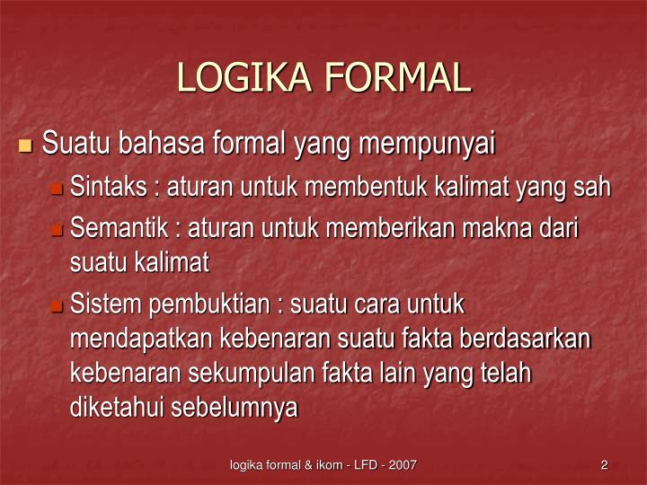 Logika formal