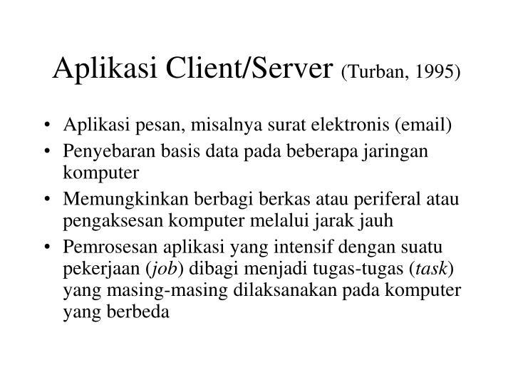 Aplikasi Client/Server