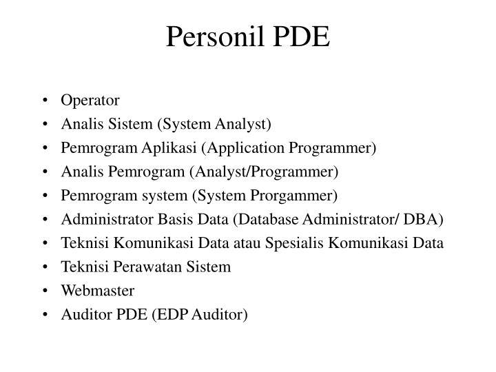Personil PDE