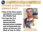 covert actions in the middle east