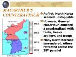 macarthur s counterattack